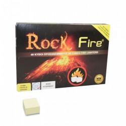 Rock fire προσάναμμα τζακιού 48 κύβοι