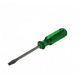Κατσαβίδι ίσιο  πράσινη λαβή 6x100mm