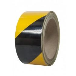 Αντανακλαστική αυτοκόλλητη ταινία 45mmX10mt Κίτρινο-Μαύρο