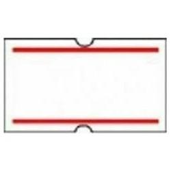 Ετικέτες για μονό ετικετογράφο 600τεμ./ρολ. 10 ρολά με κόκκινη ρίγα 22Χ12mm